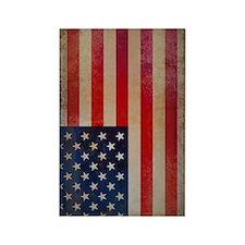 Vintage USA Flag Rectangle Magnet