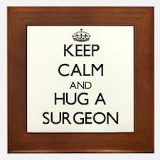 Keep Calm and Hug a Surgeon Framed Tile