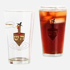 Lets Party Turkey Dreidel Drinking Glass