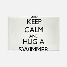 Keep Calm and Hug a Swimmer Magnets