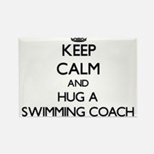 Keep Calm and Hug a Swimming Coach Magnets