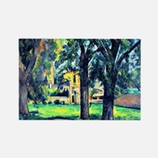 Cezanne - Chestnut Tree and Farm Rectangle Magnet