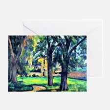 Cezanne - Chestnut Tree and Farm Greeting Card