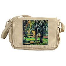 Cezanne - Chestnut Tree and Farm Messenger Bag
