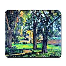 Cezanne - Chestnut Tree and Farm Mousepad