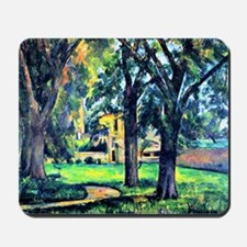 Cezanne - Chestnut Tree and Farm Mousepad