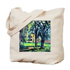 Cezanne - Chestnut Tree and Farm Tote Bag