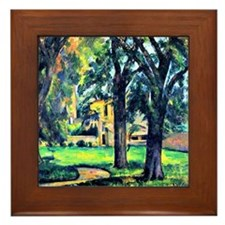 Cezanne - Chestnut Tree and Farm Framed Tile