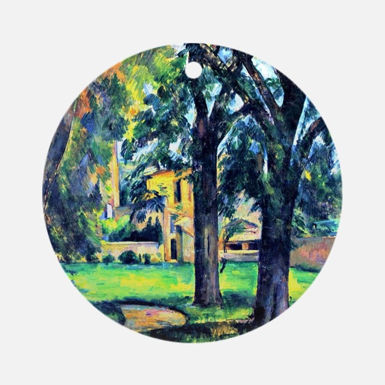 Cezanne - Chestnut Tree and Farm Round Ornament