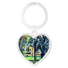 Cezanne - Chestnut Tree and Farm Heart Keychain