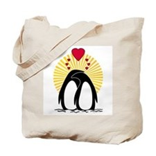 Loving Penguins (sunburst) Tote Bag