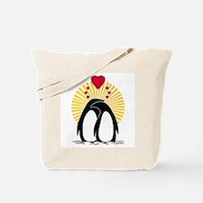 Loving Penguins (sunburst) Tote Bag