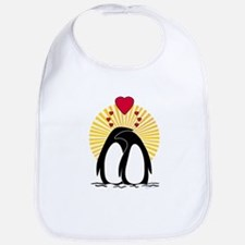 Loving Penguins (sunburst) Bib
