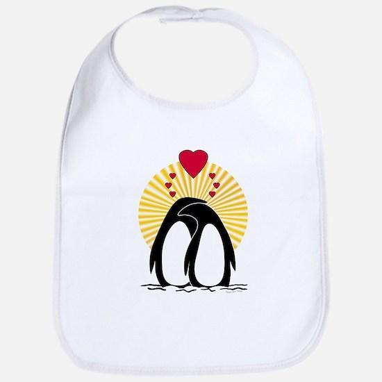 Loving Penguins (sunburst) Bib