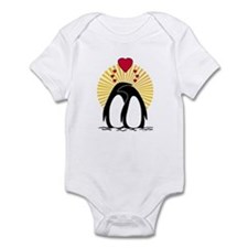 Loving Penguins (sunburst) Infant Bodysuit
