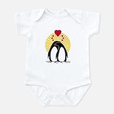 Loving Penguins (sunburst) Infant Bodysuit