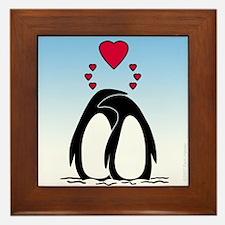 Loving Penguins Framed Tile