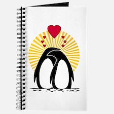 Loving Penguins (sunburst) Journal