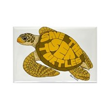 Save Turtles! Rectangle Magnet