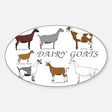 ALLDairyDoes Sticker (Oval)