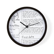 squirrel - clean black Wall Clock