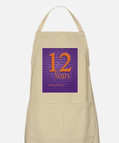 12 Year Recovery Birthday - You are a Miracl Apron
