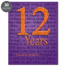 12 Year Recovery Birthday - You are a Mirac Puzzle