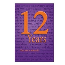12 Year Recovery Birthday Postcards (Package of 8)