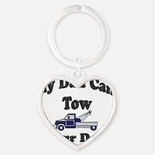 my tow dad copy Heart Keychain