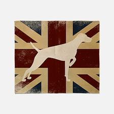 Throw Blanket - Vizsla On Aged Union Jack