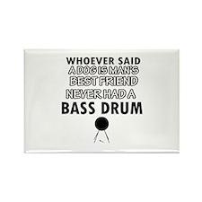 Cool bass drum designs Rectangle Magnet