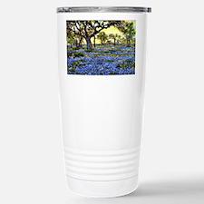 Old Live Oak Tree and Bluebonne Travel Mug