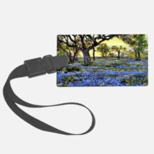Old Live Oak Tree and Bluebonnet Luggage Tag