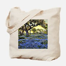 Old Live Oak Tree and Bluebonnets Tote Bag