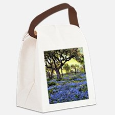 Old Live Oak Tree and Bluebonnets Canvas Lunch Bag