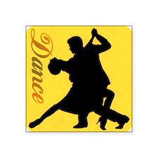 """Dance Couple Silhouette Square Sticker 3"""" x 3"""""""