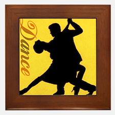 Dance Couple Silhouette Framed Tile