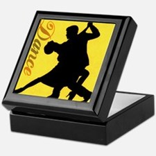 Dance Couple Silhouette Keepsake Box