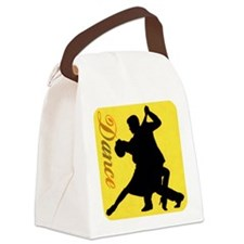 Dance Couple Silhouette Canvas Lunch Bag