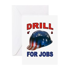 DRILLER HAT Greeting Cards