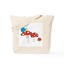 Snail Toadstool Tote Bag