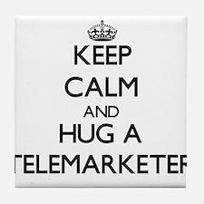 Keep Calm and Hug a Telemarketer Tile Coaster