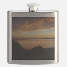 Radiant Seattle Sunset Flask