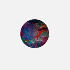 abstract chaos, colorful Mini Button