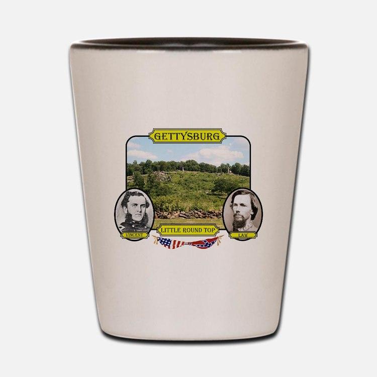 Gettysburg-Little Round Top Shot Glass