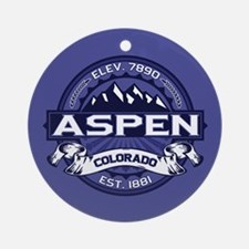 Aspen Midnight Ornament (Round)