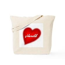 I love Harold products Tote Bag