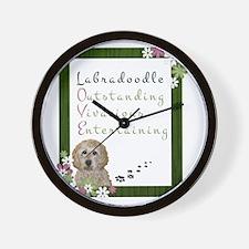 Funny Labradoodle puppy Wall Clock