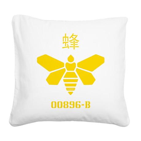 Methylamine Barrel Bee Square Canvas Pillow