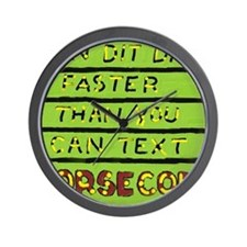 I Can Dit Dah JPEG Wall Clock